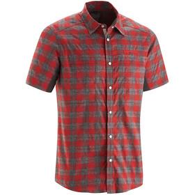 Gonso Don Fietsshirt korte mouwen Heren grijs/rood